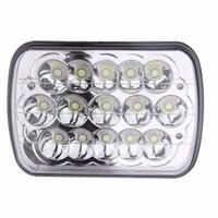 2 Sztuk 7x5 15 Biały Full Hid LED Reflektory LED 45W LED Lampa głowy dla 79-01 Jeep Cherokee
