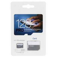 2018 BlueWhite Pro 80MB / S 90MB / S 32GB 64GB 128GB 256GB C10 TF 플래시 카드 클래스 10 무료 SD 어댑터 소매 물집 포장 Epacket DHL