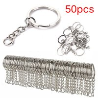 50pcs 25mm Polished Silver Color Keyring DIY Keychain Split ...