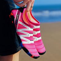 Zapatos para mujer para hombre del agua del Aqua pegan la nadada de la playa de verano yoga al aire libre de la resaca zapatos atléticos Beach Flats zapatillas Creek