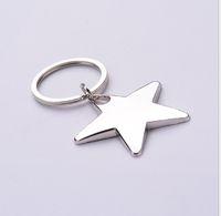Keychains a forma di stella Novità Portachiavi in metallo Logo personalizzato per regali