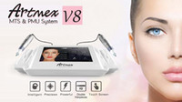 Permanent Make-up Maschine digitale Artmex V8 Touch Tattoo Maschine gesetzt Augenbraue Lippen Rotary Pen MTS-System Tätowierung Stift