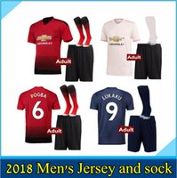 2018 2019 Manchester United soccer Jersey adult kit with soc...