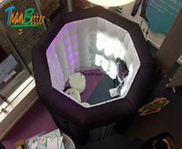 Black octagon inflatable photo booth led inflatable photoboo...