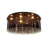 Postmodern new design crystal ceiling chandeliers lamps roun...