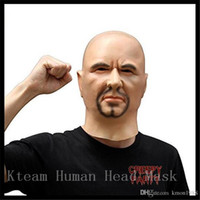 Top Grade Artificial Man Latex Mask Hood Overhead Wigs beard...