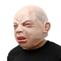 Grido Old Baby Mask Latex Shock Mask Masquerade Divertente Giocattolo di Halloween Accessorio Creepy Full Face Horror Mask Party Prank Fancy Toy