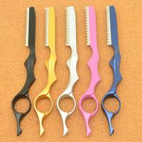 Meisha نمط جديد من الفولاذ المقاوم للصدأ مستقيم قطع الشعر الشفرة رسمت إزالة تصفيف الشعر التخفيف نصل السكين صالون حلاقة الشعر أداة HC0006