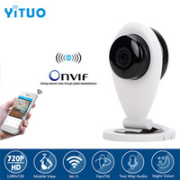 HD 720P Mini Wifi IP Camera Wireless P2P Baby Monitor Network CCTV Telecamera di sicurezza con IR-cut bidirezionale video YITUO