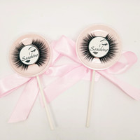 Handmade Cross 3D Real Nerz Lollipop Wimpern Thick Natural SEASHINE Wimpern Full Strip Makeup Tools Falsche Wimpern Smoky Makeup Lashes