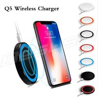 Mini Qi Wireless Charger for iPhone 8 X Wireless Charging fo...