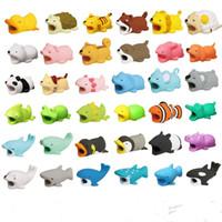 36styles Kabelbiss Tier Biss Kabel Protector Zubehör Spielzeug Kabelbisse Hundeschwein Elefant Axolotl Für iPhone Smartphone