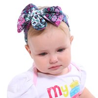 Kids Headband Bow Knotted For Girl Rabbit Ear Hairbands Turb...