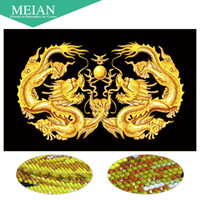 wholesale Meian, Special Shaped, Diamond Embroidery, Dragon, Ver...