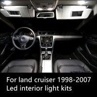 Toyota Land Cruiser aksesuar 1998-2007 için Shinman 13pcs hatadan muaf Otomobil için LED Parlak İç Harita Kubbe Kapı Işıklar Seti Paketi