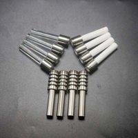 Оптовая Dab инструмент GR2 510 Thread Titanium Ceramic и кварц ногти Grade 3 Советы для ногтей для стекла водопроводной трубы Bong