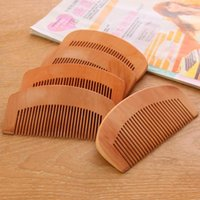 Natural Health Peach Wooden Mahogany Comb Present Comb Hair ...