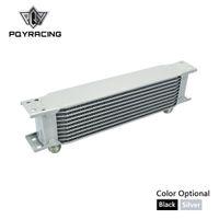 PQY - Alumínio Universal Oil Cooler Transmissão AN10 Kit Refrigerador de óleo 10 Fileiras PQY7010