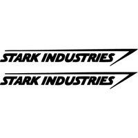 1 paire 20 * 2.5CM stark industries vinyle autocollant de voiture sticker mural autocollant CA-125
