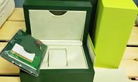 Fabriksleverantör Green Original Box Papers Presentklockor Lådor Läderväska Kort 84mm * 134mm * 185mm 0.7kg för 116610 116660 116710 116613
