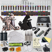 Professional Complete Tattoo Kit 2 guns machines 40 ink sets...