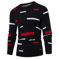 Sweater Pullover Hombre 2017 Marca Masculina Casual Mulit-Color Moda Simple Suéteres Hombres Cómodo Hedging O-Neck Men's Sweater