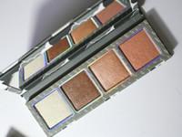Nieuwste make-up markeerstift palet geperst verlicht poeder 4 kleuren de weercollectie DHL verzending