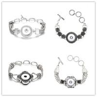 Las pulseras del botón a presión cupieron los botones de 18 mm Noosa Chunks Snap Pulsera Noosa Snap Jewelry para mujeres