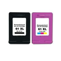 خراطيش طباعة الحبر الأسود HP61XL 2PK لطابعات HP Deskjet 1000 1050 1051 2050 2512 3000 Series