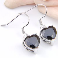 LuckyShine For Women' s 925 Silver Black Onyx Gems Heart...