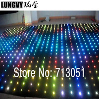 P18 2M*10M RGB DJ Party Backdrop LED Video Curtain Soft Mesh Cloth Video Flexible Star Cloth P18