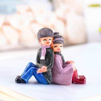 Back to Back Lovers Wedding Decoration Couple Gnome Doll Orn...