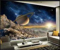 현대 3D 침실 거실 벽지 공간 우주 그림 벽지 3D 벽 벽화 벽지 홈 장식