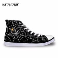 e975d6eb64 INSTANTARTS 2018 dos homens Sapatos de Caminhada Preto Spiderweb Impressão  Sneakers Homens Sapatos de Esportes Ao Ar Livre Confortável Sapato de Lona  de ...