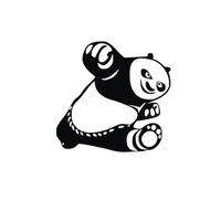 1 PC 15 * 14 cm Kung Fu Panda Po animais adesivos de carro reflexivo estilo do carro de vinil à prova d 'água da motocicleta acessórios do carro CA-307