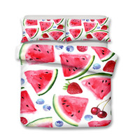 2018 2019 New 3d Lifelike Watermelon 3D Bedding Set of Duvet...