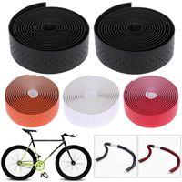 2 pcs 1.9 m de couro da bicicleta guiador fita ciclismo corrida bicicleta apertos mtb cortiça guiador fita + 2 bar plugs mountain belt correias