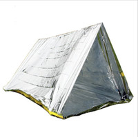 EL INDIO Outdoor doppia tenda semplice PET pronto soccorso, emergenza, conservazione e sollievo del calore, tenda portatile, coperta di vita calda AT9045