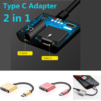 2 in 1 Audio Converter Adapter Type- C Headphone 3. 5mm Splitt...