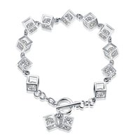 hot sale the magic square cubic zircon bracelet 925 sterling...