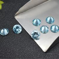 مسيرة المولد حجم صغير 1-2 ملليمتر جولة الاصطناعية الزبرجد الأزرق تشيكوسلوفاكيا ستون سعر فضفاض حجر للمجوهرات جيدة زركون 1000 قطعة / الوحدة