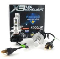 High Dipped Beam H4 9004 Led Car Bulbs 6500K 12000LM Headlig...