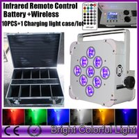 10XLOT + flight case RGBWA+ UV wireless DMX IR control batter...