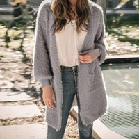 Women Faux Fur Coats 2018 Autumn Casual Loose Cardigan Fashi...