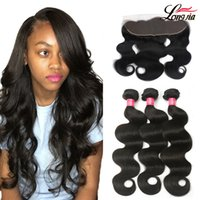 Brazilian Virgin Hair Body Wave With 13x4 Lace Frontal Closu...