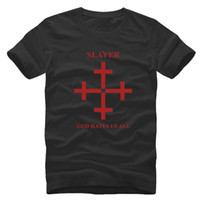 Speed Metal Slayer Christian God hate us all Printed T- shirt...