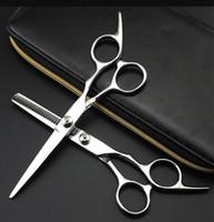 Ciseaux de coiffure professionnels 5.5 6,0 pouces Ciseaux de coupe Ciseaux Ciseaux Coïon de coiffure Outil de coiffure Toile en acier inoxydable Livraison gratuite