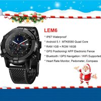 LEMFO LEM6 Bluetooth 4. 0 Smart Watch Android 5. 1 16GB SIM Ca...
