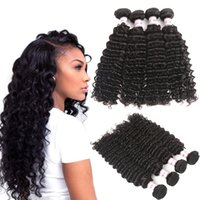 MSH 10A Grade Peruvian Deep Wave Virgin Hair 4 Bundles Human...