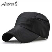 [AETRENDS] 2018 Estate Sport Quick Dry Mesh Berretto da baseball da uomo Outdoor Travel Snapback Bone cappelli Z-6464